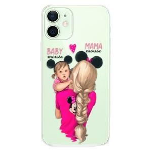 Plastové pouzdro iSaprio - Mama Mouse Blond and Girl na mobil Apple iPhone 12 Mini - výprodej