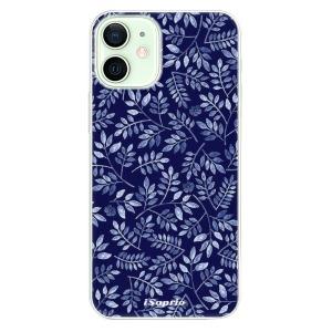 Plastové pouzdro iSaprio - Blue Leaves 05 na mobil Apple iPhone 12