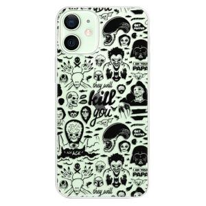 Plastové pouzdro iSaprio - Comics 01 - black na mobil Apple iPhone 12