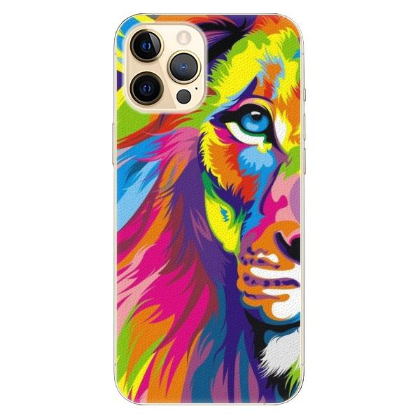 Plastové pouzdro iSaprio - Rainbow Lion - iPhone 12 Pro