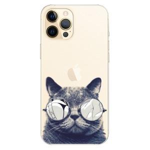 Plastové pouzdro iSaprio - Crazy Cat 01 na mobil Apple iPhone 12 Pro