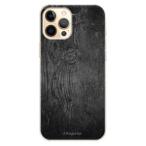 Plastové pouzdro iSaprio - Black Wood 13 na mobil Apple iPhone 12 Pro Max