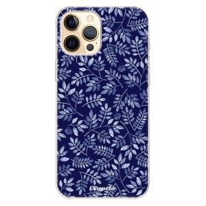 Plastové pouzdro iSaprio - Blue Leaves 05 na mobil Apple iPhone 12 Pro Max