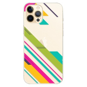 Plastové pouzdro iSaprio - Color Stripes 03 na mobil Apple iPhone 12 Pro Max