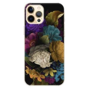 Plastové pouzdro iSaprio - Dark Flowers na mobil Apple iPhone 12 Pro Max