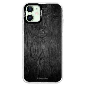 Silikonové pouzdro Bumper iSaprio - Black Wood 13 na mobil Apple iPhone 12 Mini