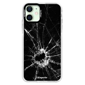 Silikonové pouzdro Bumper iSaprio - Broken Glass 10 na mobil Apple iPhone 12 Mini