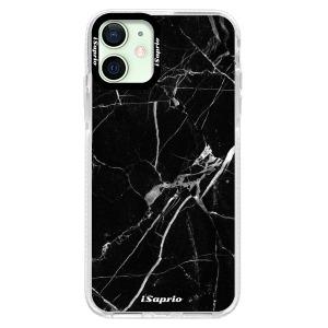 Silikonové pouzdro Bumper iSaprio - Black Marble 18 na mobil Apple iPhone 12 Mini