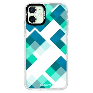 Silikonové pouzdro Bumper iSaprio - Abstract Squares 11 na mobil Apple iPhone 12 Mini