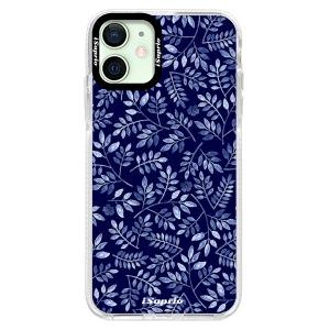 Silikonové pouzdro Bumper iSaprio - Blue Leaves 05 na mobil Apple iPhone 12 Mini