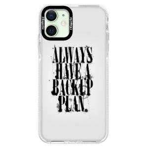 Silikonové pouzdro Bumper iSaprio - Backup Plan na mobil Apple iPhone 12 Mini