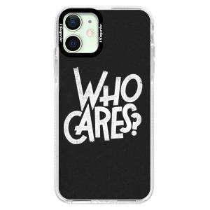 Silikonové pouzdro Bumper iSaprio - Who Cares na mobil Apple iPhone 12 Mini