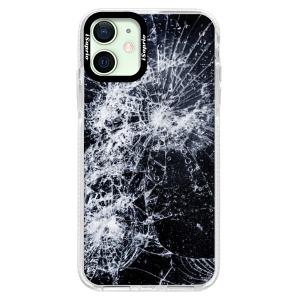 Silikonové pouzdro Bumper iSaprio - Cracked na mobil Apple iPhone 12 Mini