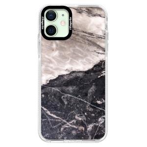 Silikonové pouzdro Bumper iSaprio - BW Marble na mobil Apple iPhone 12 Mini