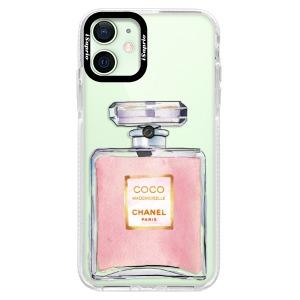 Silikonové pouzdro Bumper iSaprio - Chanel Rose na mobil Apple iPhone 12 Mini