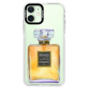 Silikonové pouzdro Bumper iSaprio - Chanel Gold na mobil Apple iPhone 12 Mini