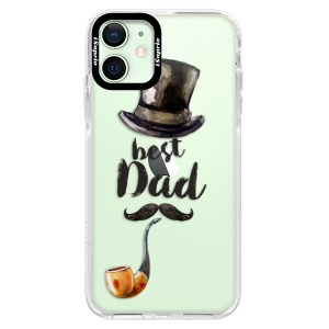 Silikonové pouzdro Bumper iSaprio - Best Dad na mobil Apple iPhone 12 Mini