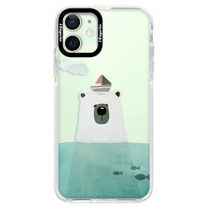 Silikonové pouzdro Bumper iSaprio - Bear With Boat na mobil Apple iPhone 12 Mini