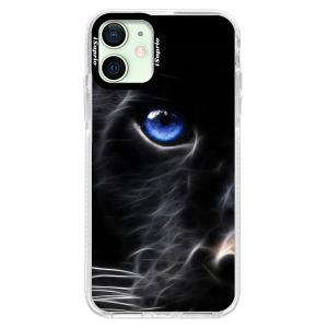 Silikonové pouzdro Bumper iSaprio - Black Puma na mobil Apple iPhone 12 Mini