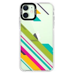 Silikonové pouzdro Bumper iSaprio - Color Stripes 03 na mobil Apple iPhone 12 Mini