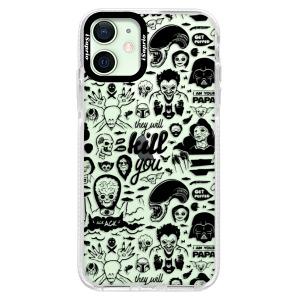 Silikonové pouzdro Bumper iSaprio - Comics 01 - black na mobil Apple iPhone 12 Mini