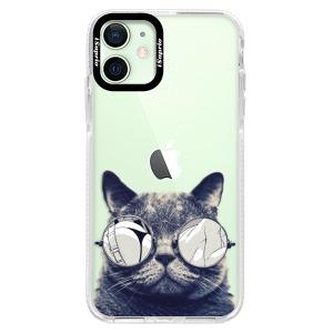 Silikonové pouzdro Bumper iSaprio - Crazy Cat 01 na mobil Apple iPhone 12 Mini