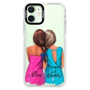 Silikonové pouzdro Bumper iSaprio - Best Friends na mobil Apple iPhone 12 Mini