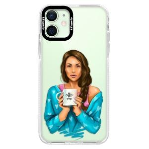 Silikonové pouzdro Bumper iSaprio - Coffe Now - Brunette na mobil Apple iPhone 12 Mini