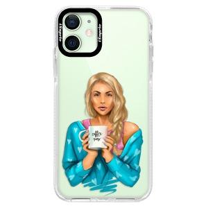 Silikonové pouzdro Bumper iSaprio - Coffe Now - Blond na mobil Apple iPhone 12 Mini
