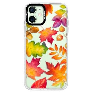 Silikonové pouzdro Bumper iSaprio - Autumn Leaves 01 na mobil Apple iPhone 12 Mini