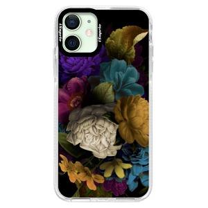 Silikonové pouzdro Bumper iSaprio - Dark Flowers na mobil Apple iPhone 12 Mini