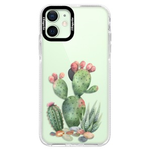 Silikonové pouzdro Bumper iSaprio - Cacti 01 na mobil Apple iPhone 12 Mini