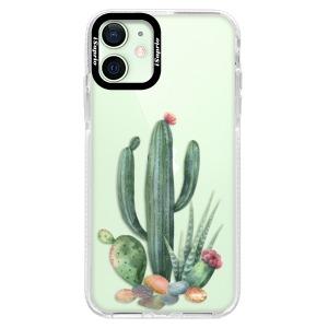 Silikonové pouzdro Bumper iSaprio - Cacti 02 na mobil Apple iPhone 12 Mini
