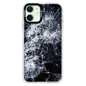 Silikonové pouzdro Bumper iSaprio - Cracked na mobil Apple iPhone 12
