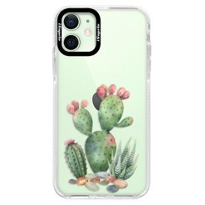 Silikonové pouzdro Bumper iSaprio - Cacti 01 na mobil Apple iPhone 12