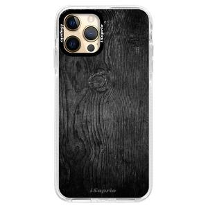 Silikonové pouzdro Bumper iSaprio - Black Wood 13 na mobil Apple iPhone 12 Pro