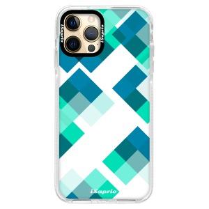 Silikonové pouzdro Bumper iSaprio - Abstract Squares 11 na mobil Apple iPhone 12 Pro