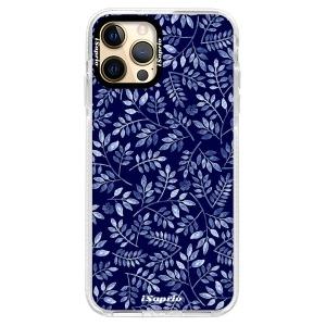 Silikonové pouzdro Bumper iSaprio - Blue Leaves 05 na mobil Apple iPhone 12 Pro
