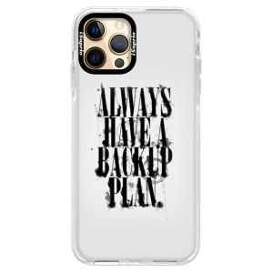 Silikonové pouzdro Bumper iSaprio - Backup Plan na mobil Apple iPhone 12 Pro