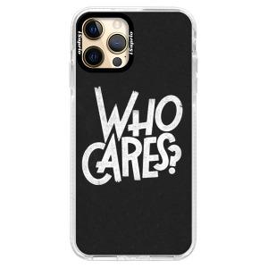 Silikonové pouzdro Bumper iSaprio - Who Cares na mobil Apple iPhone 12 Pro