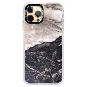 Silikonové pouzdro Bumper iSaprio - BW Marble na mobil Apple iPhone 12 Pro