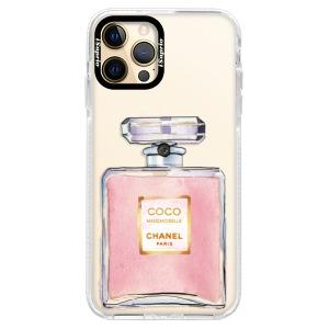 Silikonové pouzdro Bumper iSaprio - Chanel Rose na mobil Apple iPhone 12 Pro