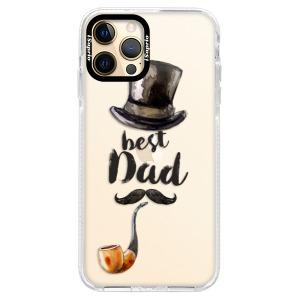 Silikonové pouzdro Bumper iSaprio - Best Dad na mobil Apple iPhone 12 Pro