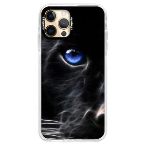 Silikonové pouzdro Bumper iSaprio - Black Puma na mobil Apple iPhone 12 Pro