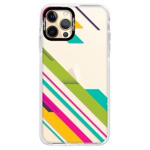 Silikonové pouzdro Bumper iSaprio - Color Stripes 03 na mobil Apple iPhone 12 Pro