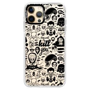 Silikonové pouzdro Bumper iSaprio - Comics 01 - black na mobil Apple iPhone 12 Pro