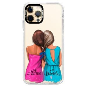 Silikonové pouzdro Bumper iSaprio - Best Friends na mobil Apple iPhone 12 Pro