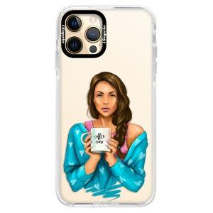 Silikonové pouzdro Bumper iSaprio - Coffe Now - Brunette na mobil Apple iPhone 12 Pro