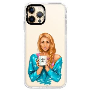 Silikonové pouzdro Bumper iSaprio - Coffe Now - Redhead na mobil Apple iPhone 12 Pro