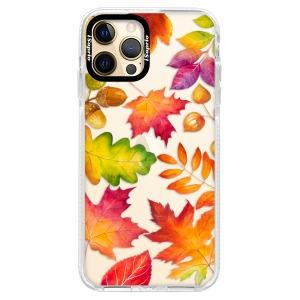 Silikonové pouzdro Bumper iSaprio - Autumn Leaves 01 na mobil Apple iPhone 12 Pro